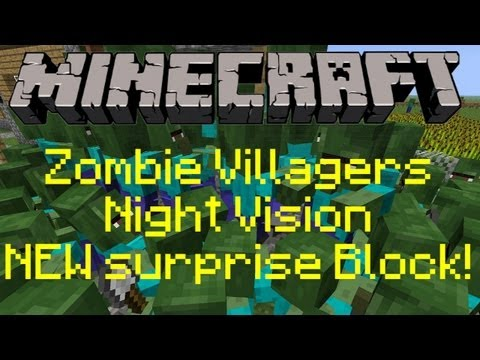 Minecraft Update 1.4 Preview -  Baby Zombie Villagers, NEW surprise Block, Night Vision and MORE!