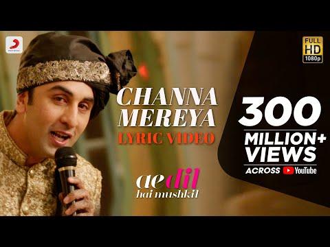 Channa Mereya Lyric Video Ae Dil Hai Mushkil Karan Johar Ranbir Anushka Pritam Arijit