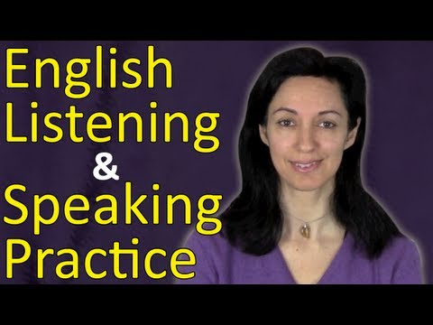 Speaking - Practise your listening and speaking skills with this English exercise video. In this lesson we will use common daily expressions for introductions and greet...
