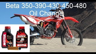 5. Beta 350-390-430-450-480 Oil Change