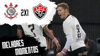 Confira os melhores momentos da virada por 2x1 do Corinthians sobre o Vitória na nossa arena!