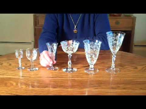 Antiquing with Your Best Friend - How to Measure Vintage Elegant Stemware with Kathy