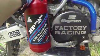 8. How to change gear oil in a 2 stroke dirtbike KX 250