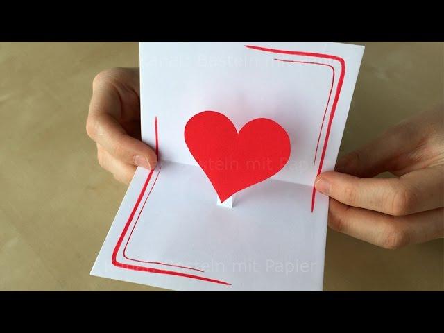 Muttertagsgeschenk basteln diy pop up karten basteln mit papier muttertag basteln ideen - Muttertagsgeschenke selber basteln ...