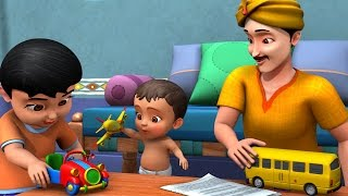 Watch this favorite Telugu Rhymes for Children, about uncle's Gift, where he presents load of colorful toys to the children. Uncle's gift is always something special isn't it...Hope your little one enjoys this Telugu Kids Video.For more details, visit www.infobells.com
