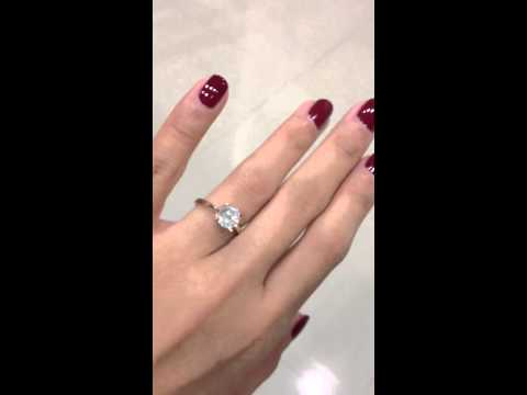 1 Carat Solitaire Ring by Misaki Jewellery