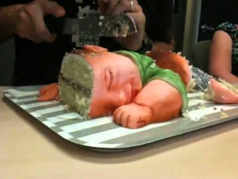 嬰兒造型蛋糕,你切的下手嗎?