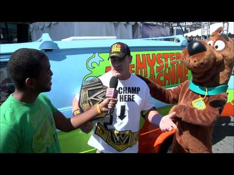 scooby - Subscribe to Warner Bros TV! | http://bit.ly/192UpNr #WarnerBrosTV While celebrating Scooby-Doo and WWE's new partnership, wrestlers John Cena and Brodus Cla...