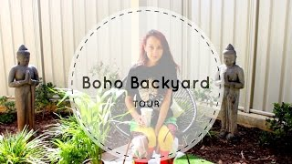 Hello to my fellow soul sisters and brothers! Today I decided to take you on a very quick tour of my Boho Backyard!  Well.. as we are moving, i decided to give it some love for the remaining time we are here! My 13 year old brother also helped me out by playing camera man hahah let it be! Hope you like it!Love Makaila xoFacebook: http://www.facebook.com/makailapanizzaaInstagram: @makailapanizzaSnapchat: @makaila.panizza