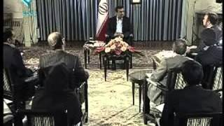 قطع سخنان احمدی نژاد بعد از سوال چالشی خبرنگار