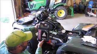 7. 2014 Honda Foreman TRX 500 FM1 4x4 Oil Change At 20 hr Break In Period with KVUSMC
