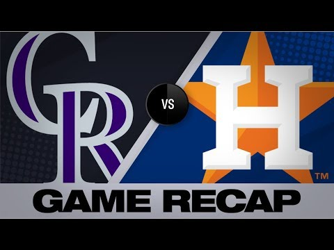 Video: Homers drive Astros in 11-6 victory | Rockies-Astros Game Highlights 8/6/19