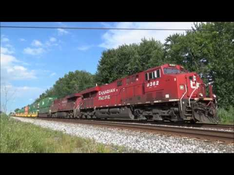 2 Screaming Ac Canadian Pacific Es44ac's #9362 & #8927 - Intermodal Q165 - Mentor Oh