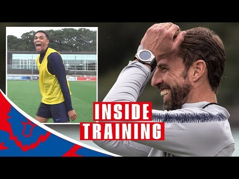 Download Trent Nails Crossbar Challenge and England Prepare for Spain! | Inside Training