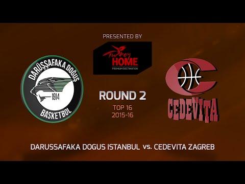 Highlights: Top 16, Round 2, Darussafaka Dogus Istanbul 72-79 Cedevita Zagreb