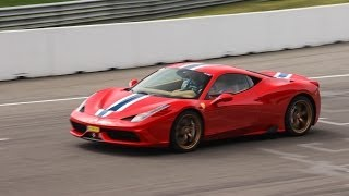 Subscribe NOW to Autospotter15: http://full.sc/11XgwmMI recorded the new Ferrari 458 Speciale during Supercar Sunday at the TT circuit in Assen, the Netherlands. In this video, you can see and hear the car rev and accelerate on the track. Which car is your favourite? The 458 Speciale, 650S or the new Huracán? Please share your opinion in the comments below. I hope you enjoyed watching this video. All feedback on my videos is appreciated. Feel free to like this video, leave a comment, subscribe to my channel and share this video with others! Thanks for watching!JoostGet more Autospotter15:Facebook: https://www.facebook.com/autospotter15