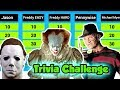Horror Movie Trivia Challenge with Freddy Kreuger, Michael Myers, Jason and Pennywise   DavidsTV