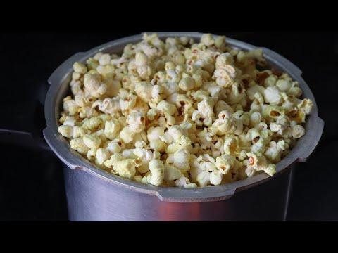 കുക്കറിൽ പോപ്കോൺ ഉണ്ടാക്കാം/Popcorn Recipe at Home in Malayalam/Homemade Popcorn in Cooker