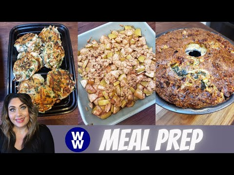 WW MEAL PREP FOR WEIGHT LOSS | B-FAST BUNDT CAKE | RANCH POPPERS & APPLE CRUMBLE | WEIGHT WATCHERS!