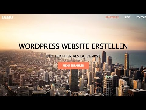 WordPress Website Erstellen - WordPress Tutorial DEUTSCH/GERMAN