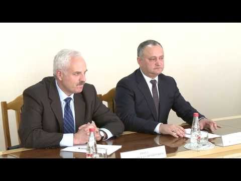 President Igor Dodon and Transnistrian region leader Vadim Krasnoselsky had a working meeting in Bender today