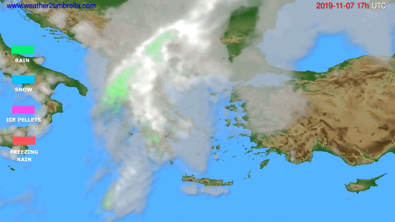 Precipitation forecast Greece // modelrun: 00h UTC 2019-11-06