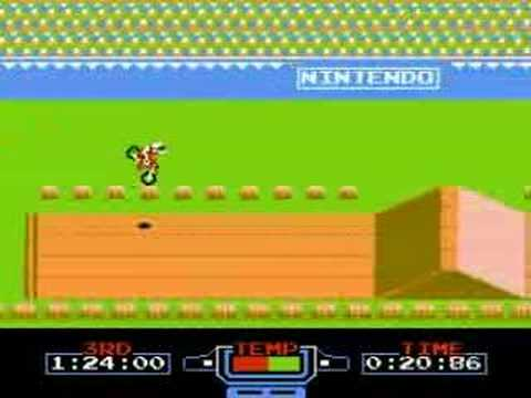 「往年のFCソフト「エキサイトバイク」での神業」のイメージ