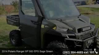 3. 2014 Polaris Ranger XP 900 EPS Sage Green  - Action Power...