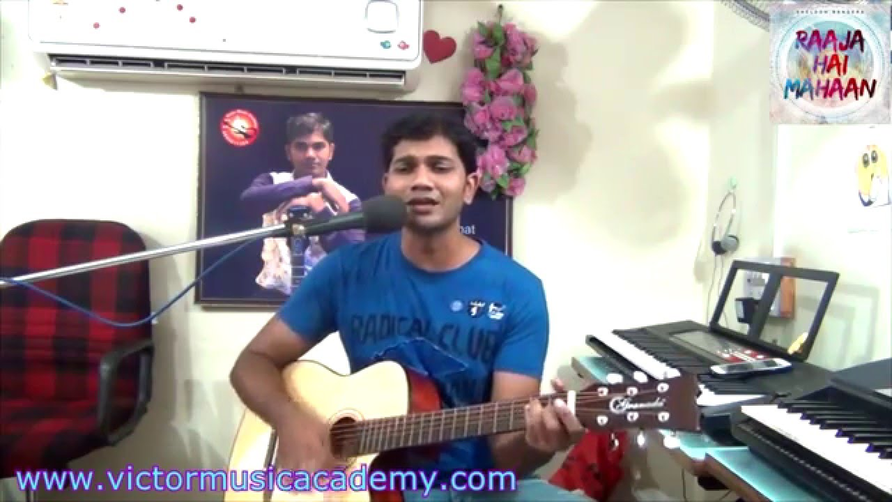 New hindi  Christian Song Raja Hai mahan Cover Guitar Lesson Victor Benjamin
