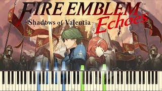 """Follow me on Twitter: https://twitter.com/HariSivanMusicThis is the Synthesia for my piano cover of the Title Screen music from Fire Emblem Echoes: Shadows of Valentia. I play through the progression 3 times. This game is a remake of Fire Emblem Gaiden. Fire Emblem Echoes: Shadows of Valentia OST was composed by Takeru Kanazaki, Yasuhisa Baba, Takafumi Wada, and Sho Murakami. I hope this Synthesia piano tutorial is helpful! Please show your support by subscribing.My other Fire Emblem piano covers:""""Such bonds are the true strength of this army."""" (Synthesia)★ https://youtu.be/-LyiOaupuqQEchoes: Shadows of Valentia - In a Silver Garden with You (Synthesia)★ https://youtu.be/dMlLJQezS7UEchoes: Shadows of Valentia - In a Silver Garden with You★ https://youtu.be/LJVFP2HsiWMEchoes: Shadows of Valentia - Title Screen★ https://youtu.be/4cpnLPtkdhY""""......"""" (Synthesia)★ https://youtu.be/rx71JVeA_wgGrief (Synthesia)★ https://youtu.be/Mn50Yzdn27oThe Water Maiden (Synthesia)★ https://youtu.be/ouqkujdsxnU""""Farewell... my friends..."""" (Synthesia)★ https://youtu.be/LLQyYUfjGiA""""Such bonds are the true strength of this army.""""★ https://youtu.be/RA6yanYKVdk""""Farewell... my friends...""""★ https://youtu.be/zMEehvJC_6cAqua's Song (if-Hitori Omou) (Synthesia)★ https://youtu.be/so1y8WG37VUThe Water Maiden★ https://youtu.be/ML-RnHbiNgY""""......""""★ https://youtu.be/rJaAQ3qLSAs""""Don't speak her name!"""" (Synthesia)★ https://youtu.be/EArU5NoEPpwAqua's Song (if-Hitori Omou)★ https://youtu.be/CW4HjF0jaksGrief★ https://youtu.be/EseG01jvtHs""""You deserved better from me than one sword."""" (Synthesia)★ https://youtu.be/ze6YJglQx2sId (Purpose)★ https://youtu.be/T_kwPSha3E4Conquest★ https://youtu.be/xZJIU_mcYNg""""You deserved better from me than one sword.""""★ https://youtu.be/GTdUx0yXgEU""""You may call me Marth.""""★ https://youtu.be/rW3VSe6KK0A""""And what if I can't? What if I'm not worthy of her ideals?""""★ https://youtu.be/bQfYuIGy0HA""""Don't speak her name!""""★ https://youtu.be/y5QsNgn8HVM Performed by Hari SivanRecorded: May 20"""