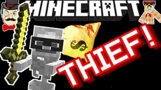 Minecraft SKELETON STOLE MY SWORD !