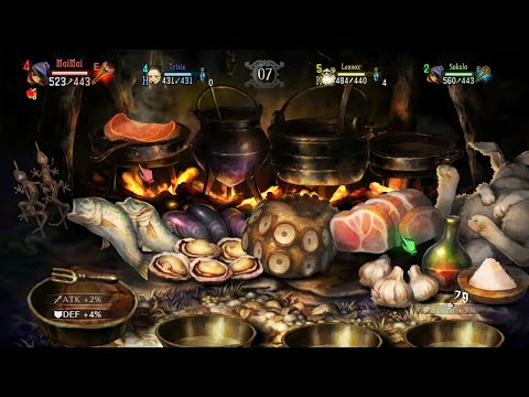 Dragon's Crown Cooking Camp Mini Game (4 Players)