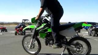 9. 2004 Kawasaki KDX220 for sale test riding