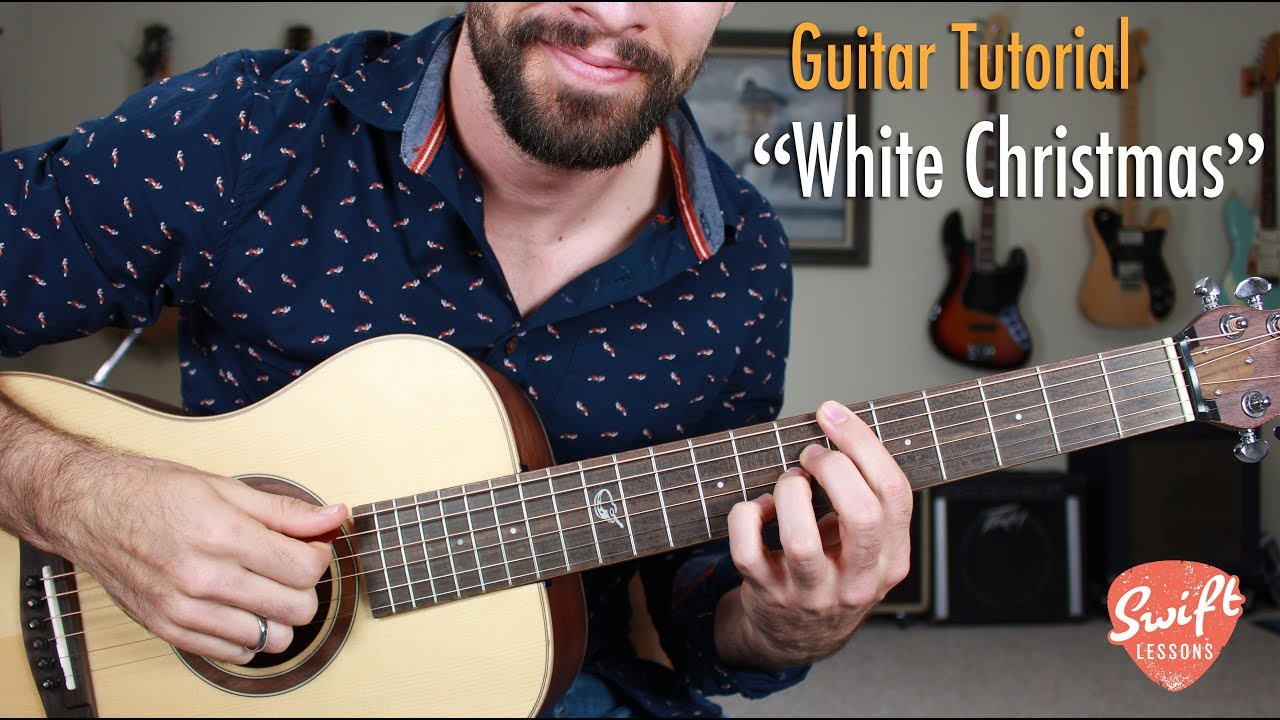 """How to Play """"White Christmas"""" – Jazzy Acoustic Guitar Lesson"""