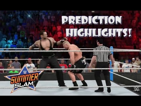 WWE 2K15 Undertaker Vs Brock Lesnar | Summerslam 2015 - Prediction Highlights