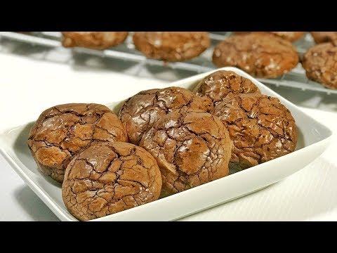 คุกกี้บราวนี่ Brownie Cookies สูตรน้ำตาลทรายแดง  สอนทำบราวนี่ คุ้กกี้แบบง่ายๆ