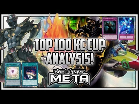 Top 100 KC Cup Deck Lists Analysis [Yu-Gi-Oh! Duel Links] (видео)