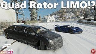 Forza Horizon 4: Cadillac Limo w/ QUAD ROTOR SWAP!? Drift Build