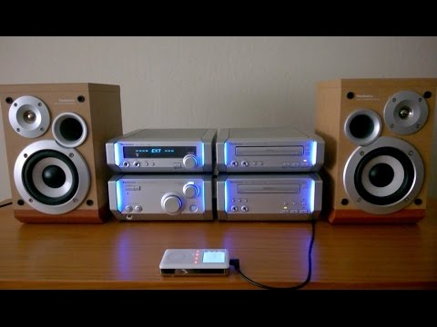 Technics SC-HD505 stereo system Army Strong song Panasonic SE-HD505 mini hifi shelf component