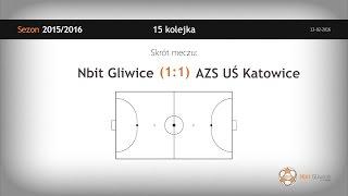 Skrót meczu Nbit Gliwice - AZS UŚ Katowice (15 kolejka)