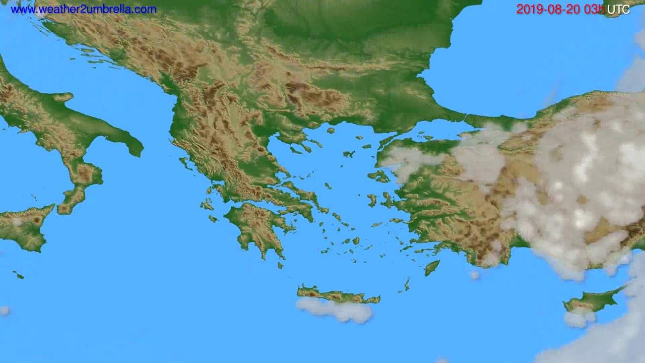 Cloud forecast Greece // modelrun: 00h UTC 2019-08-17