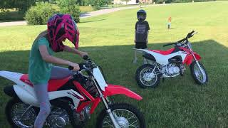 8. Riding Honda's CRF110F(first day)