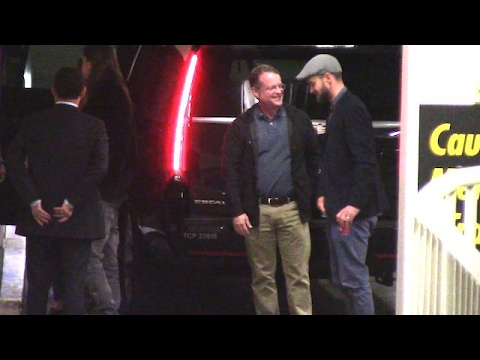 Justin Timberlake Leaving The ArcLight Theatre With Friends