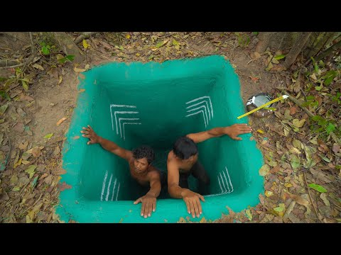Build Temple Tunnel Swimming Pool And Water Slide To Swimming Pool