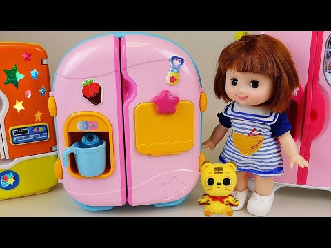 Baby Doll Refrigerator And Food Toys Play