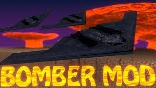 Minecraft   STEALTH BOMBER MOD Showcase (PLANES MOD, FIGHTER JETS MOD, NUKES MOD)