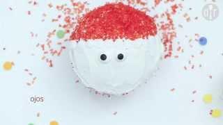 """Cómo hacer cupcakes de Navidad """"Santa"""""""