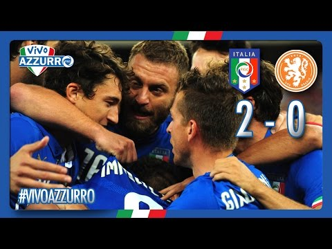 italia - olanda 2-0: i gol di immobile e de rossi - highlights