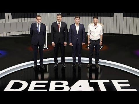Ισπανία: Με αναφορές στην Ελλάδα το debate των πολιτικών αρχηγών