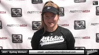2021 Sydney Einhorn - 3.94 GPA - Athletic Third Base Softball Skills Video - Socal Athletics Briggs